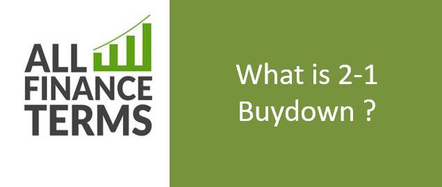 Definition of 2-1 Buydown
