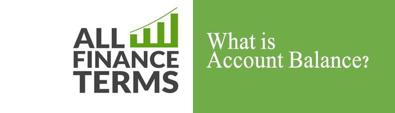 Definition of Account Balance