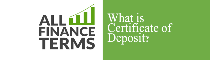 Definition of Certificate of Deposit