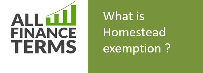 Definition of Homestead exemption