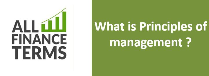 Definition of Principles of management