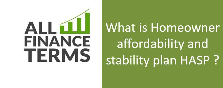Definition of Homeowner affordability and stability plan HASP ?
