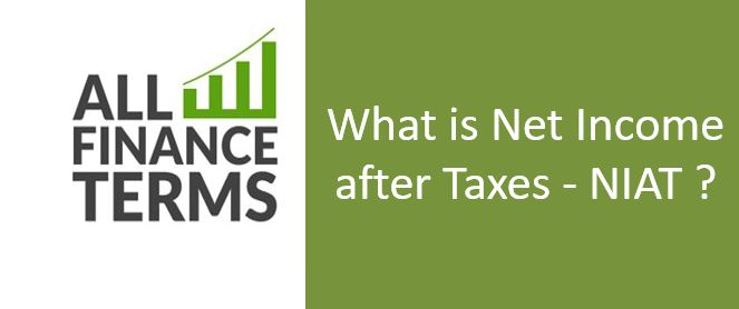 Definition of Net Income after Taxes - NIAT