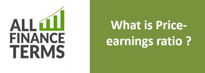 Definition of Price-earnings ratio