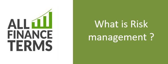 Definition of Risk management