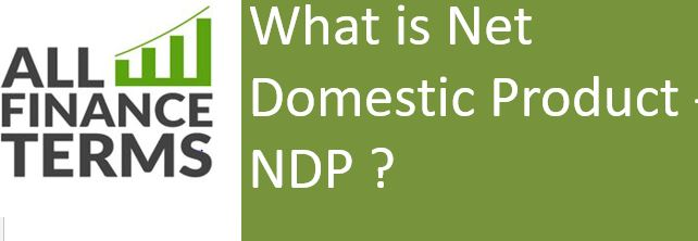 Definition of Net Domestic Product - NDP
